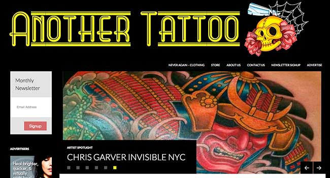 Another Tattoo Website Image