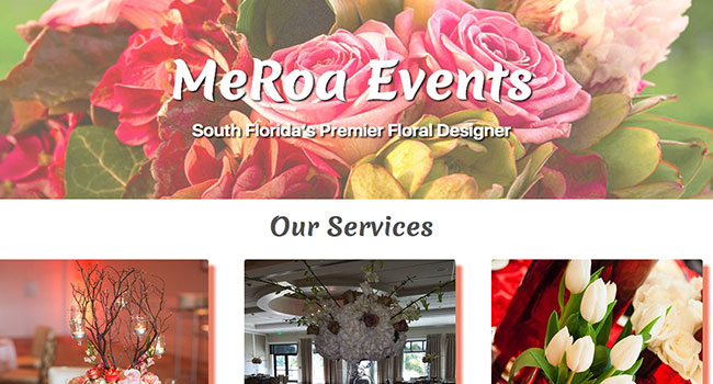 MeRoa Events Website Home Page Image 650x350